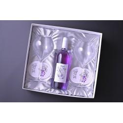 【紫ワイン】ペアグラス付き ギフトセット