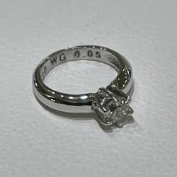4月誕生石 ベビーリング K10WGダイヤモンド ジュエルアンドウオリジナルモデル
