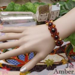 魔女の黒金の琥珀『ジェット&アンバー』ハンドメイド編ブレス