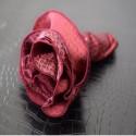 ポケットチーフ 円形 フチ同色 YEGオリジナル柄 レッド