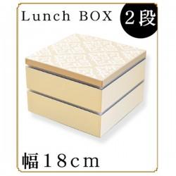 紀州漆器 重箱 おしゃれでかわいい 角二段重箱 北欧柄