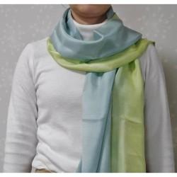 【繊維王国福井】草木染め 羽二重ストール グラデーション染め ※受注生産