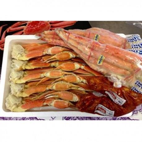 青森海】ずわい蟹3k10肩。タラバ蟹4L800を2個。よしやすキムチ1000g追加。