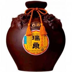 瑞泉1升シーサー壷