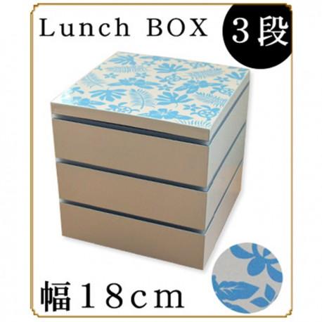 紀州漆器 重箱 おしゃれでかわいい 角三段重箱 ハワイアンカメ