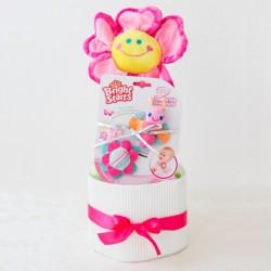 【送料無料】 出産祝い おむつケーキ(女の子用)