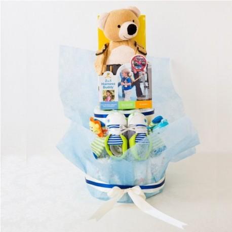 【送料無料】 出産祝い おむつケーキ(男の子用)