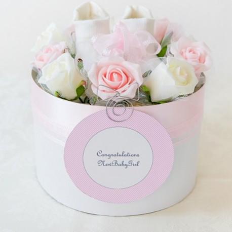 【送料無料】 出産祝い おむつケーキ≪GIRL≫