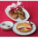 ガトーよしだのベイクドチーズケーキ クリスマススペシャルミックス(18cm)と香川名物たあちゃんの骨付き鳥セット!