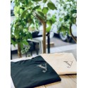 YEG ラインストーンTシャツ ホワイト  Lサイズ (ラインストーン・ゴールド)