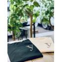 YEG ラインストーンTシャツ ブラック  Lサイズ (ラインストーン・ゴールド)