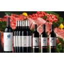 【限定3セット】ワイン木箱入でお届けオーパスワン入り赤ワイン12本+牛肉5等級3kgセット
