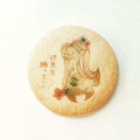 アマビエクッキー丸型5cm 10枚入り透明ケース ※