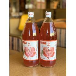 """【五所川原特産】""""赤〜いりんご""""果汁100%ジュース 1ℓ×2本セット"""