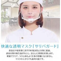 抗菌透明マスク 10枚セット ウイルス 繰り返し 口元 接客 飲食店 美容 医療 飛沫防止 笑顔  口が見える レディース メンズ 男女兼用