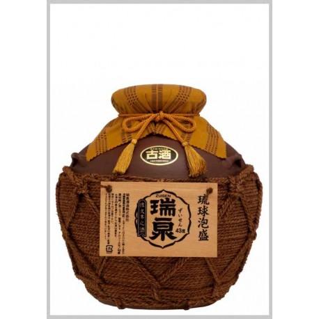 43%おもろ甕貯蔵10年古酒入『瑞泉壷3升(巻)壷』5,400ml