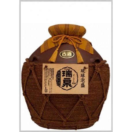 43%おもろ甕貯蔵10年古酒入『瑞泉壷5升(巻)壷』9,000ml