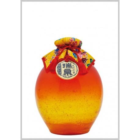 43%瑞泉3年古酒『琉球ガラス1升-橙-』1,800ml