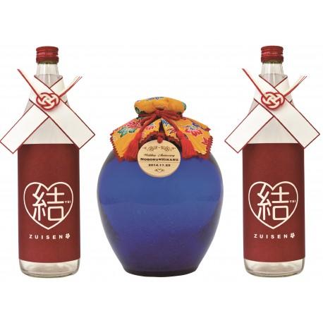 43%瑞泉酒合わせの儀『琉球ガラス1升-滄-』1,800ml