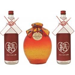 瑞泉酒合わせの儀『琉球ガラス1升-橙-』43度