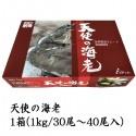 天使の海老1kg箱入り (30~40尾入り)刺身用 ※