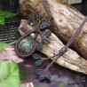 大天使の名を持つ緑魔石『セラフィナイト』生命の樹マクラメ編トップネックレス6