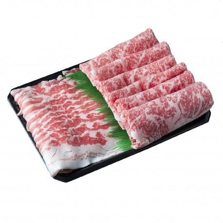 沖縄県産和牛 石垣牛・あぐー豚 すきしゃぶセット ※